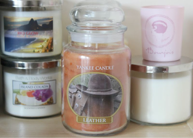 Yankee Leather Candle