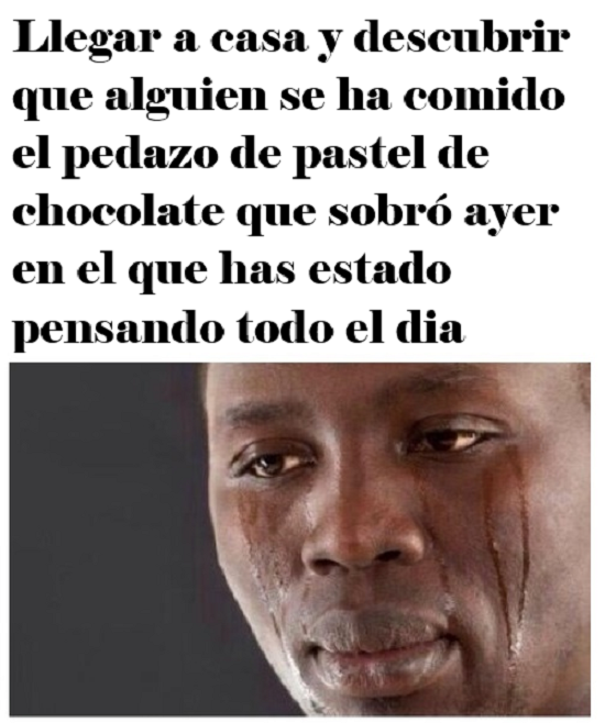Momento triste del día