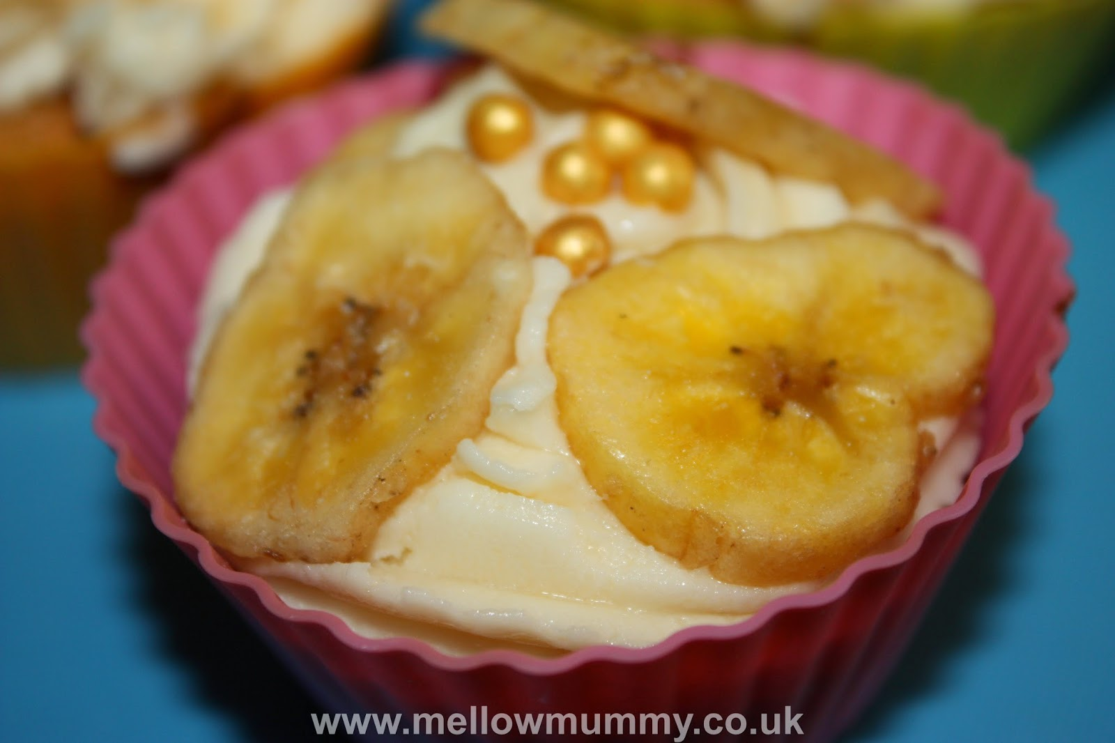 banana cupcakes with Flora buttery