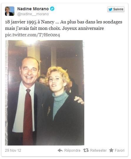 Nadine Morano Jacques Chirac