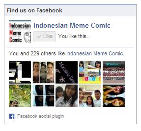 Contoh Kotak Like FansPage Facebook