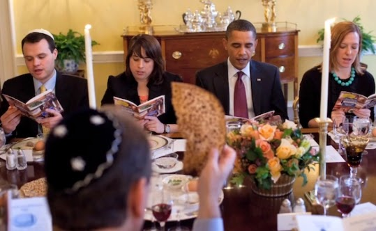 Eric Lesser and President Obama White House Pesach Seder