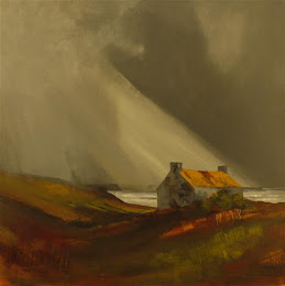 Scotland painting The croft with the rusted roof