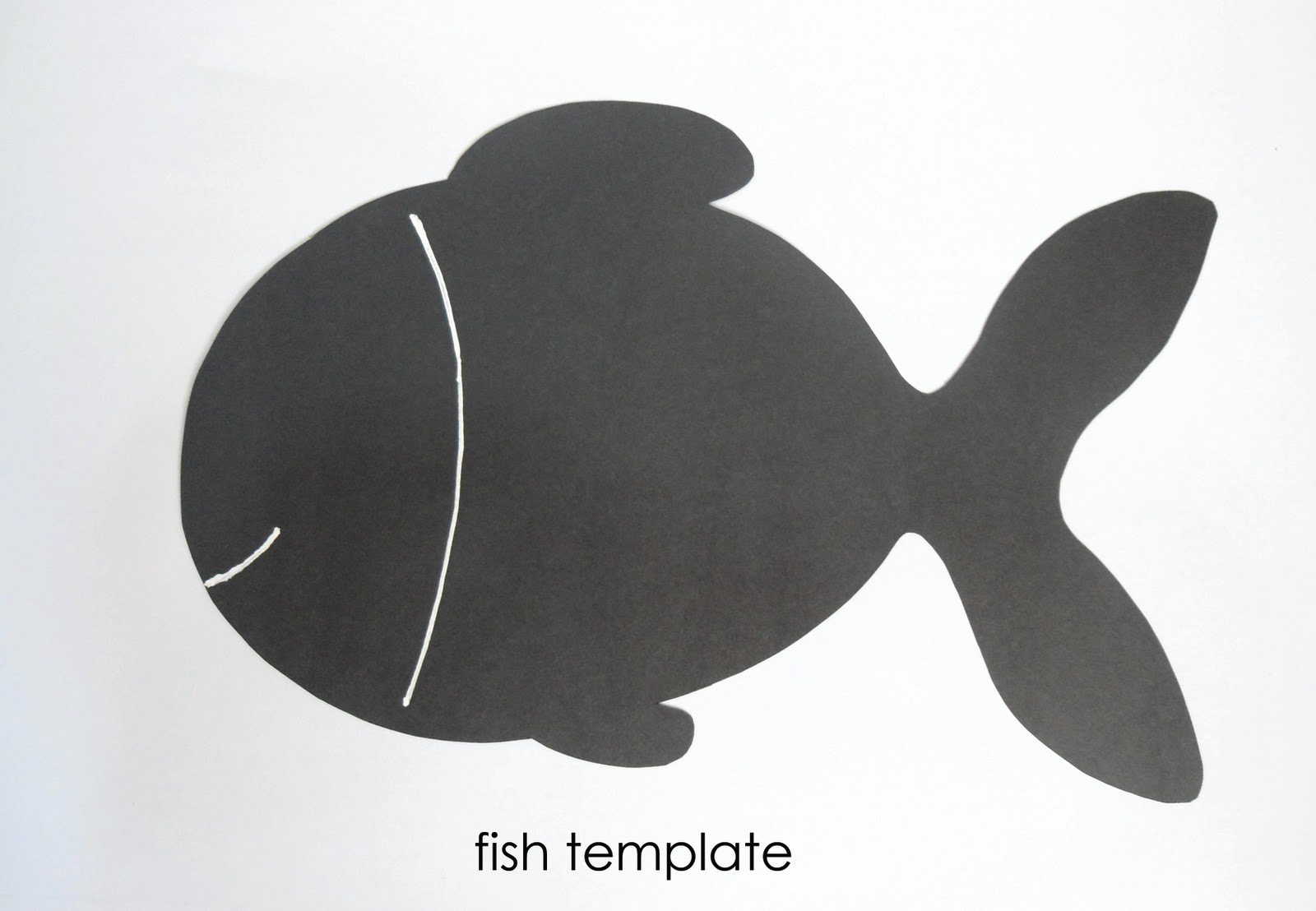 fish template for preschool