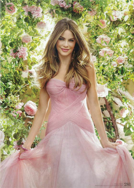 Sofia Vergara in Martha Stewart Weddings 2015