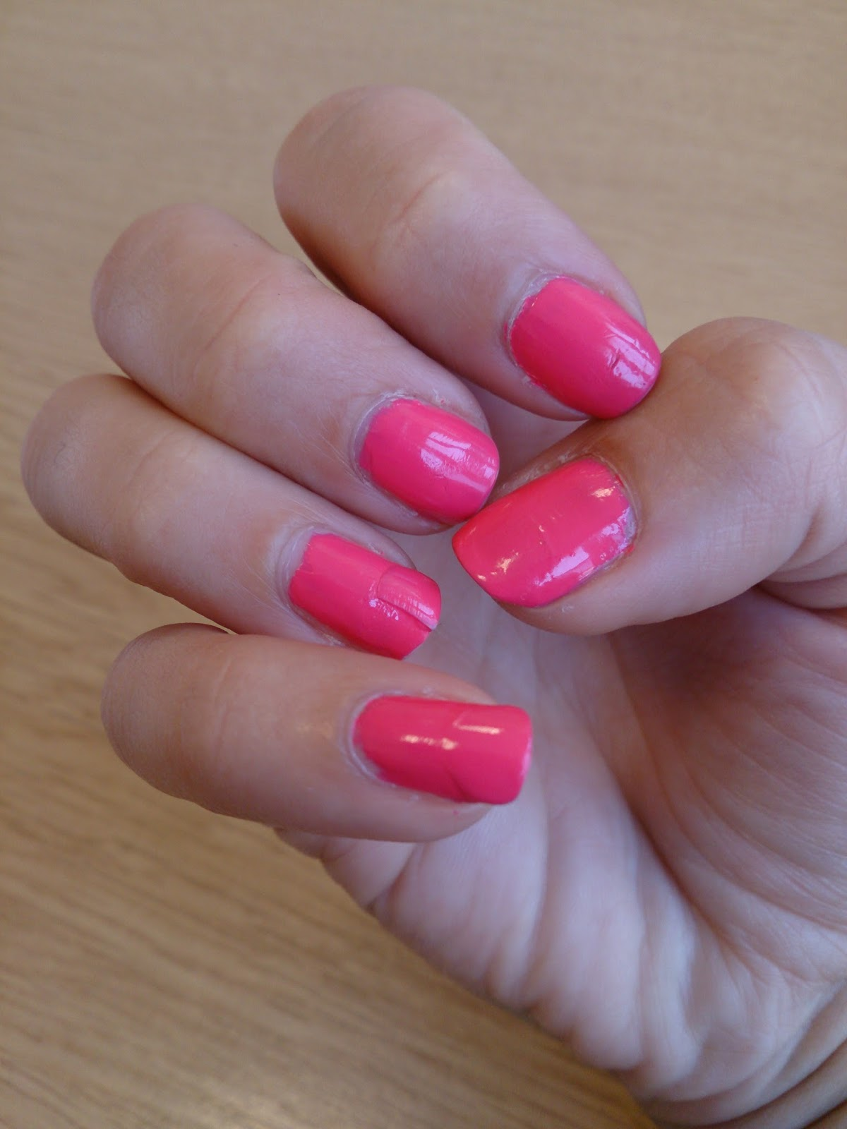barry m nail effects jelly 8 grapefruit pink neon polish varnish