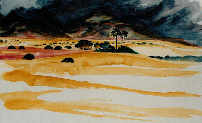 Damaraland landscape, Namibia by Sophie Neville