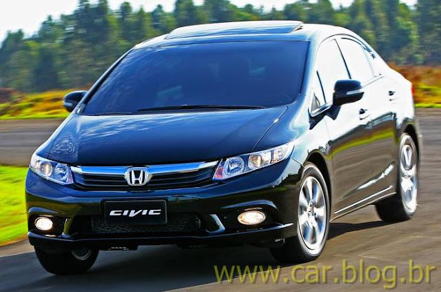 Novo Honda Civic 2012 EXS brasileiro - frente