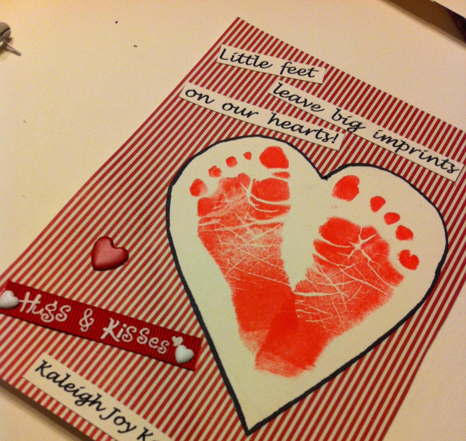 The Life Of Faith: Baby Footprint Valentine Heart