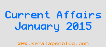 Current Affairs January 2015 PDF