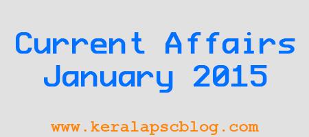 Current Affairs January 2015 PDF