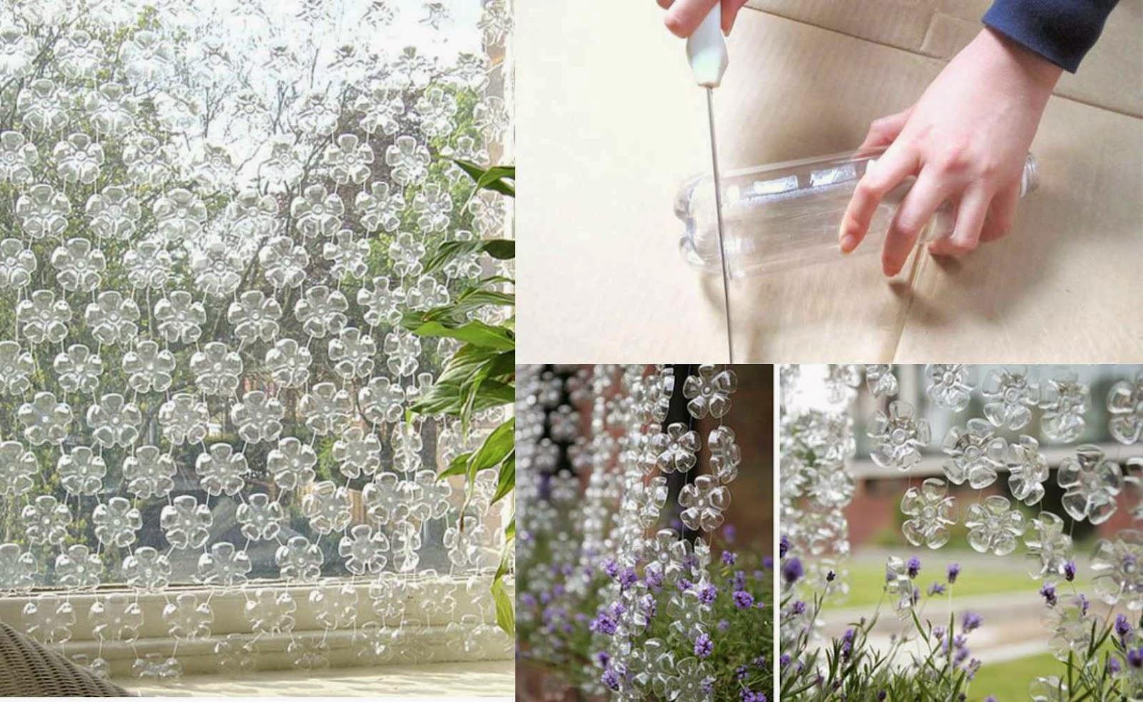#T16 Cortina de Flores - Botellas plásticas recicladas