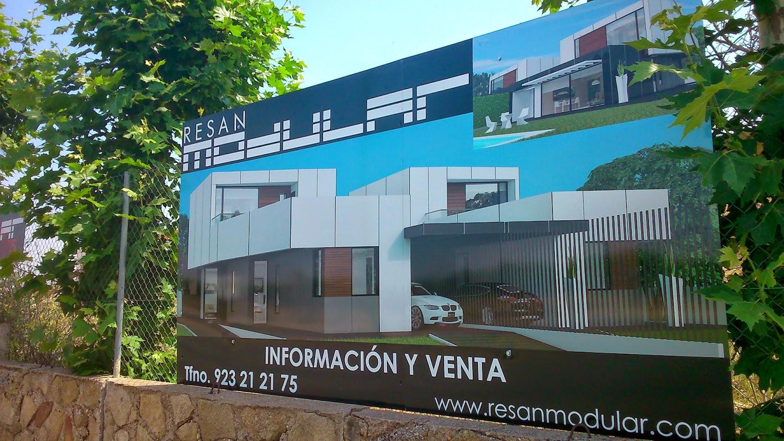 Cartel promoción viviendas campo de golf de Villamayor de Resan Modular