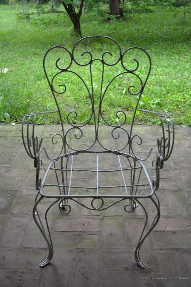 Antiguos sillones de hierro de jard n valiente pepe - Sofas de hierro para jardin ...