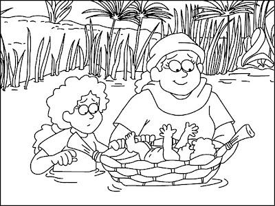 BUENAS NOTICIAS PARA LOS NIÑOS: LA HISTORIA DE MOISÉS. COLOREAR