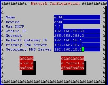 shaw how to set static ip
