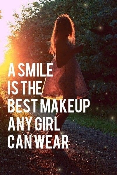 smile is best makeup girly quote