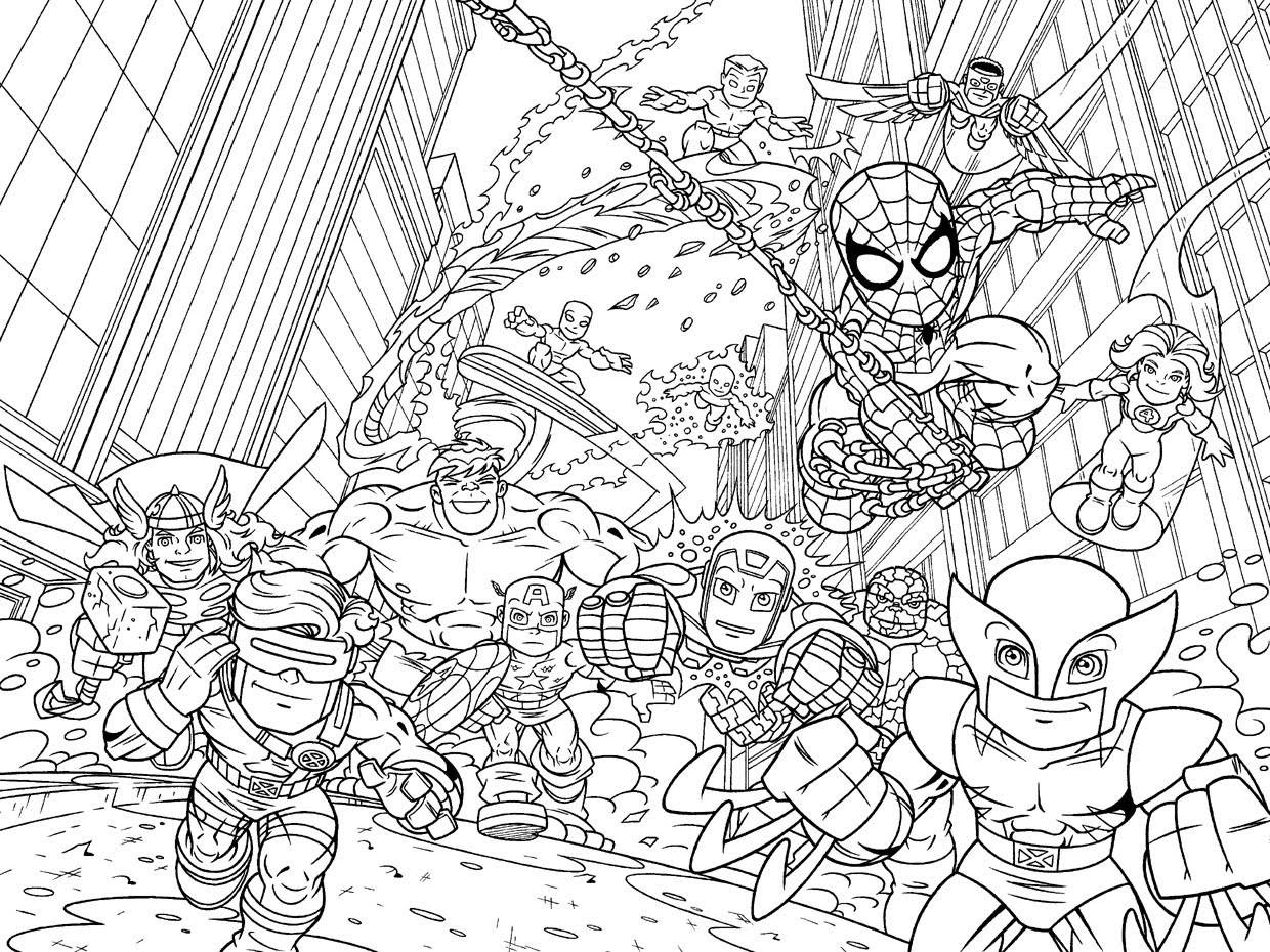 Coloring Posters Marvel Coloring Pages Marvel Comics - Free ...