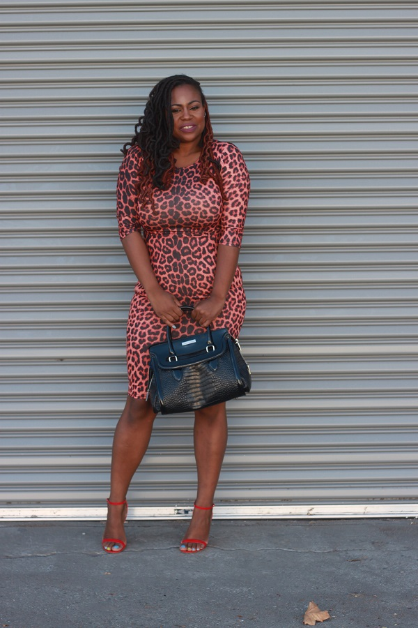 Leopard-print-midi-dress, how-to-wear-leopard-print, Plus-size-fashion-bloggers, black-fashion-bloggers, style-blogger