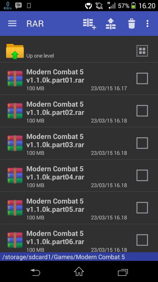 Aplikasi RAR for Android v 5.20 build 31