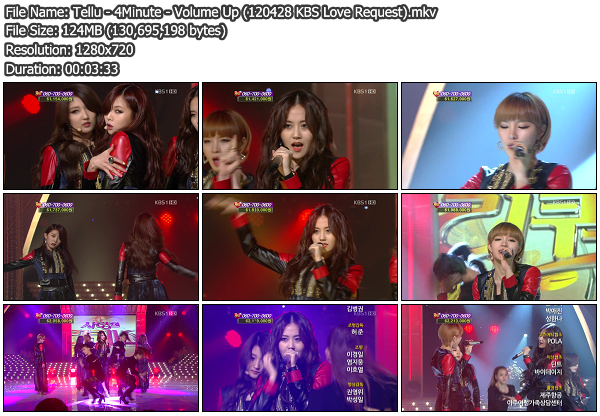 [Perf] 4Minute   Volume Up @ KBS Love Request 120428