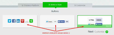 Cara membuat tombol share sosial media di bawah postingan blog