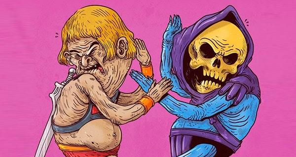 Skeletor vs He-Man by Alex Solis