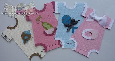 Baby Onesies Punc Art Cards