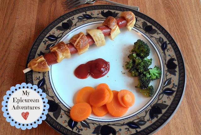 Soft Pretzel and Hot Dog On A Stick Dinner for kids