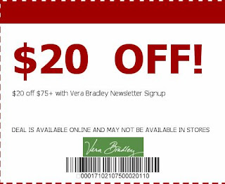vera bradley printable coupons
