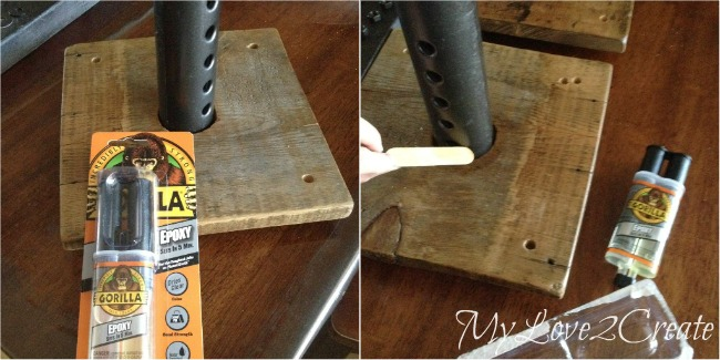 using gorilla epoxy to secure car jack to wood