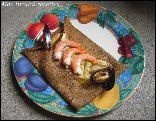 galette de sarrasin aux fruits de mer