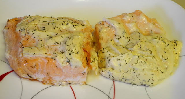 BIZZY BAKES: Baked Salmon with Dill Mustard Sauce