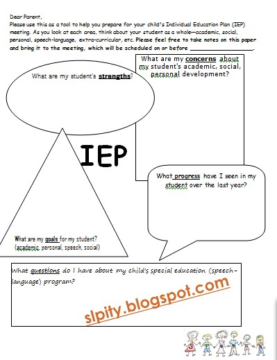 slp ity iep meeting forms