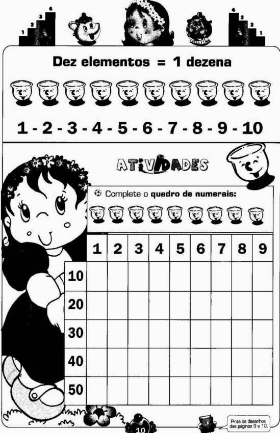 Atividades de matemática 1 ano ensino fundamental para imprimir