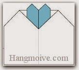Bước 14: Hoàn thành cách xếp tấm thiệp, bưu thiếp hình trái tim bằng giấy theo phong cách origami.