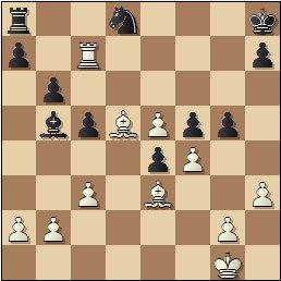 Partida de ajedrez Manuel Golmayo vs. Max Albin jugada en 1910, posición después de 23.Tc7