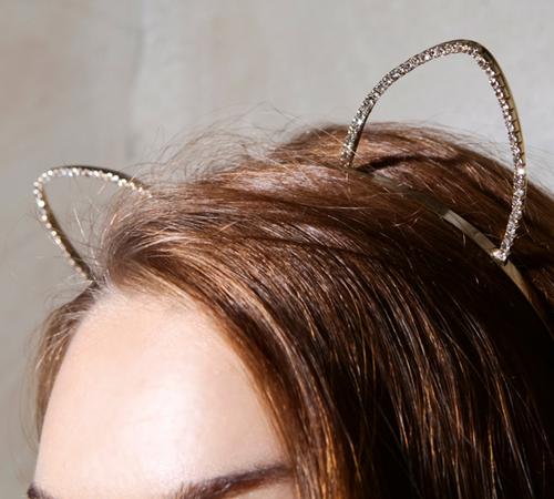 Rhinestone Cat Ears Headband