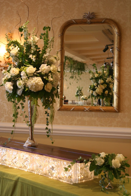 peonies, hydrangean roses, curly willow, ivy, Isha Foss Events, Norfolk Yacht Club Wedding