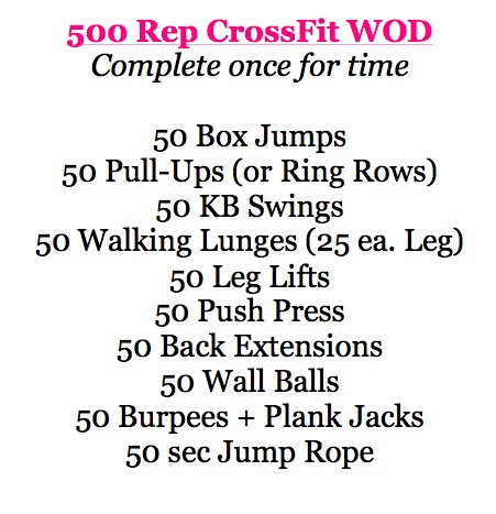 500 Rep Crossfit Workout Http Www