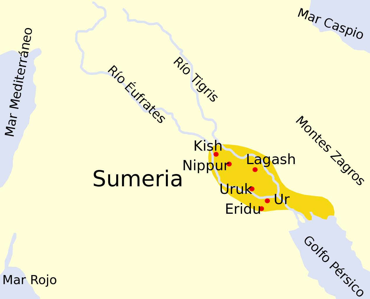 Localização dos sumérios