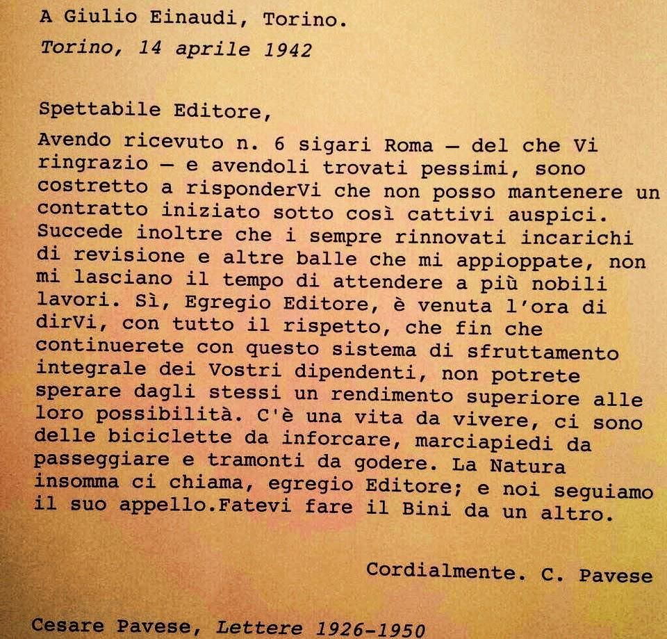 Cesare Pavese giulio einaudi