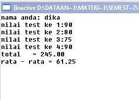Struktur Data : Menghitung Rata – Rata dengan Fungsi Bahasa C
