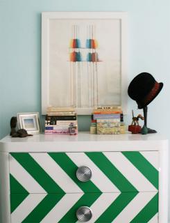 Painted Chevron Zig Zag Dresser
