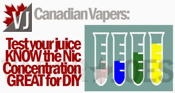 Canada Only: Test Kits Allows You to Check Nic Level