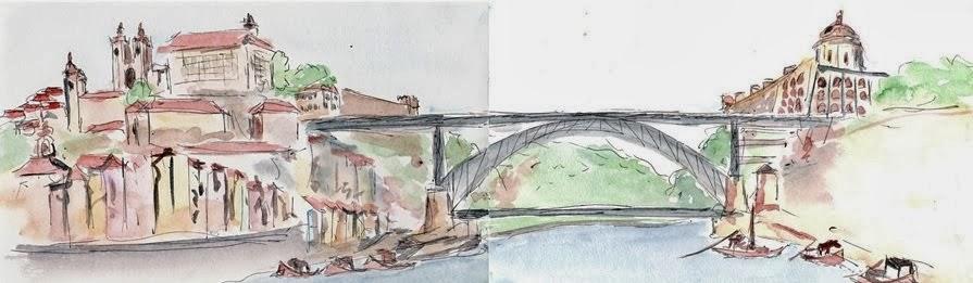 Ponte Sao Luis - Porto, Portugal