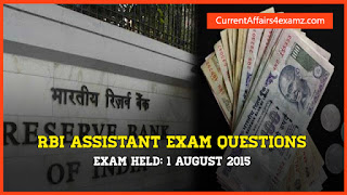 RBI Assistant Exam Questions 2015