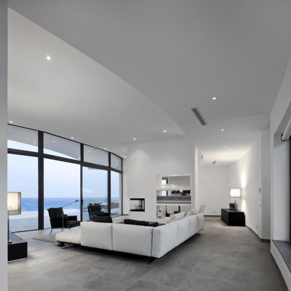 arsitektur rumah modern dengan dinding kurva desain