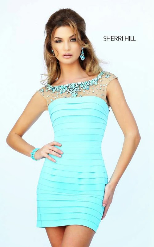 Blue Tight Homecoming Dresses 2015
