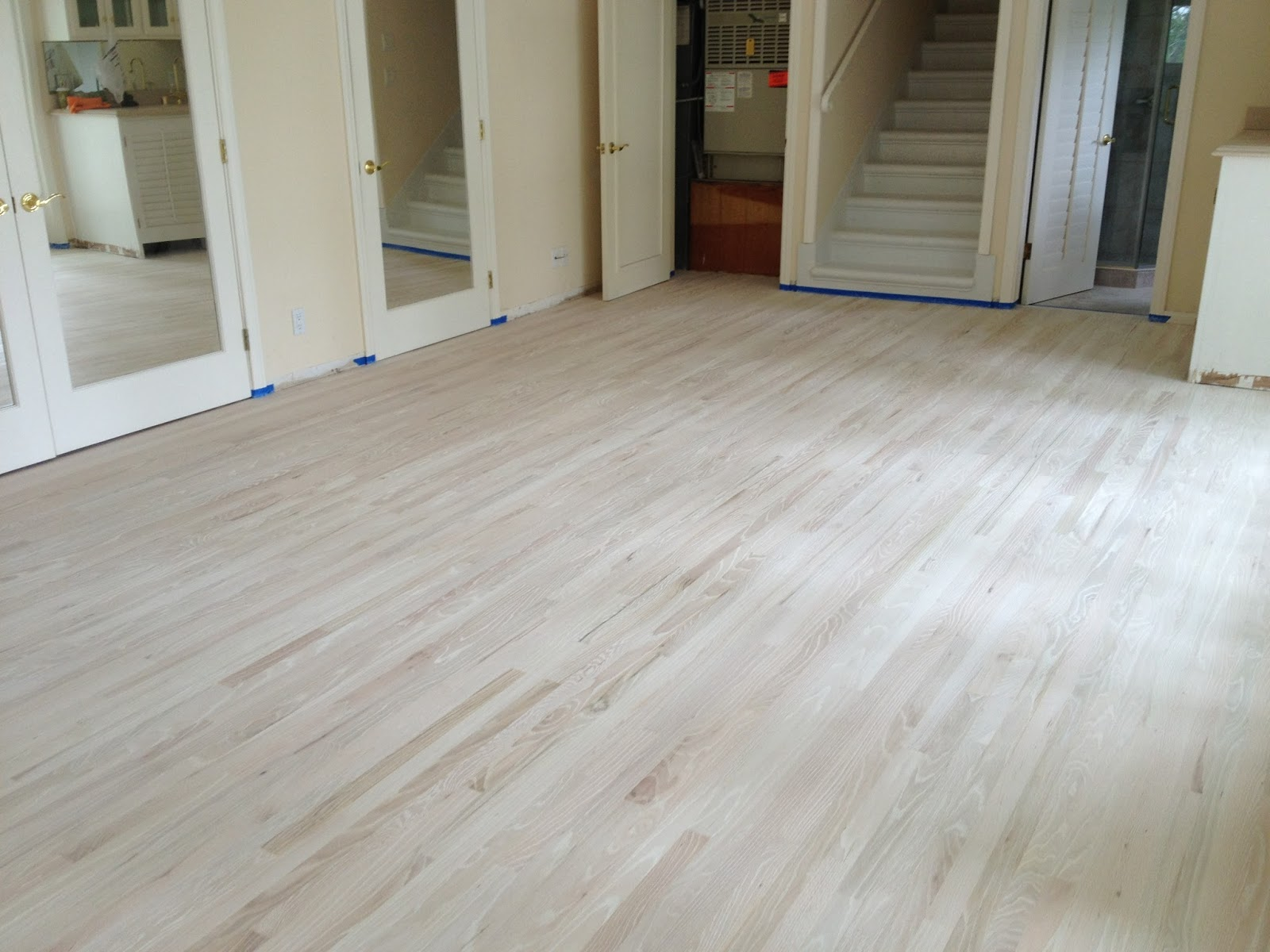 is oakwhite refinish our floor waterbased floors as wood process this oak red blog to old white follows using a year